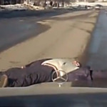 Incredible Russian dashcam footage shows people trying to get run over
