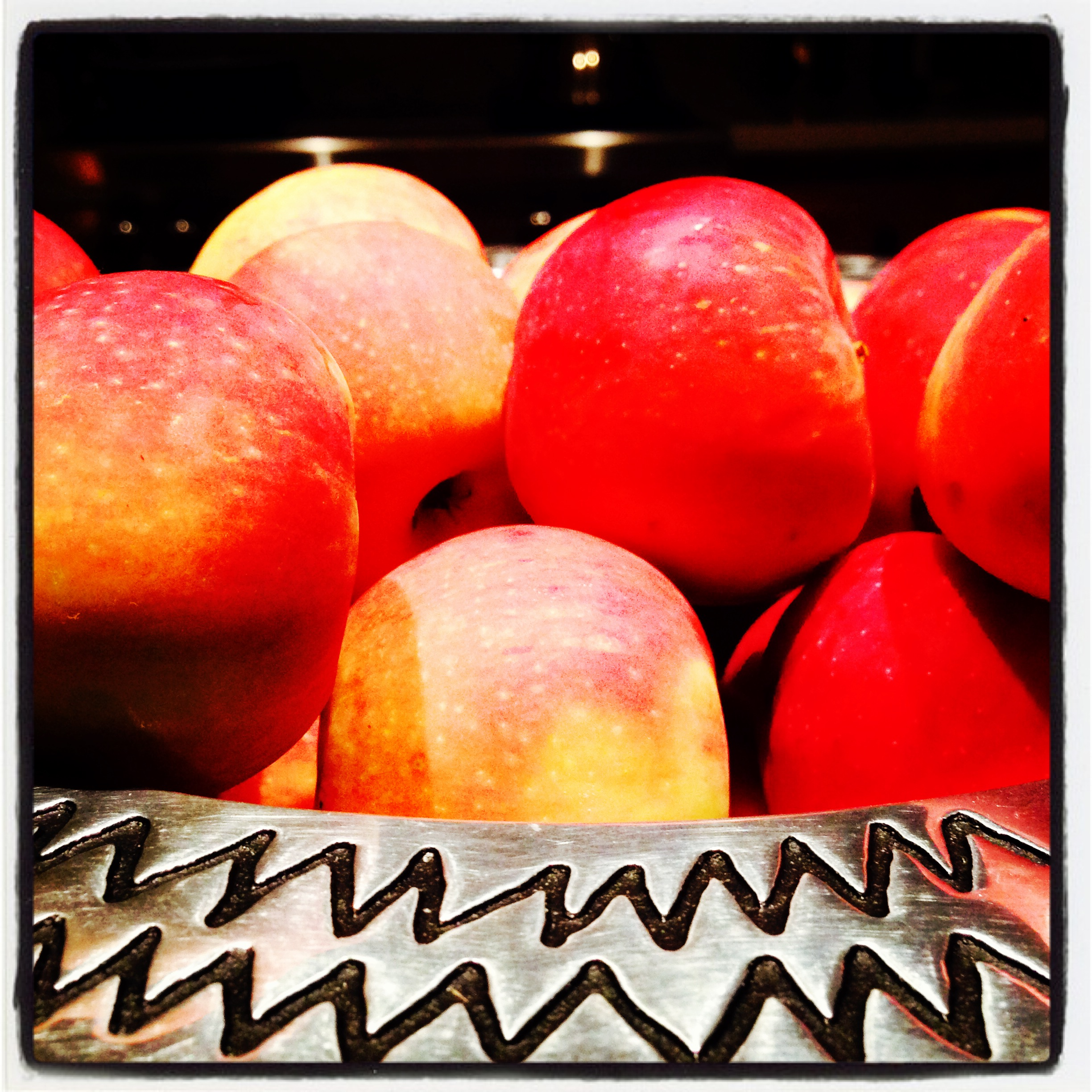 This one fell flat on Instagram, maybe because I cropped it so closely and the color of those apples is so saturated.