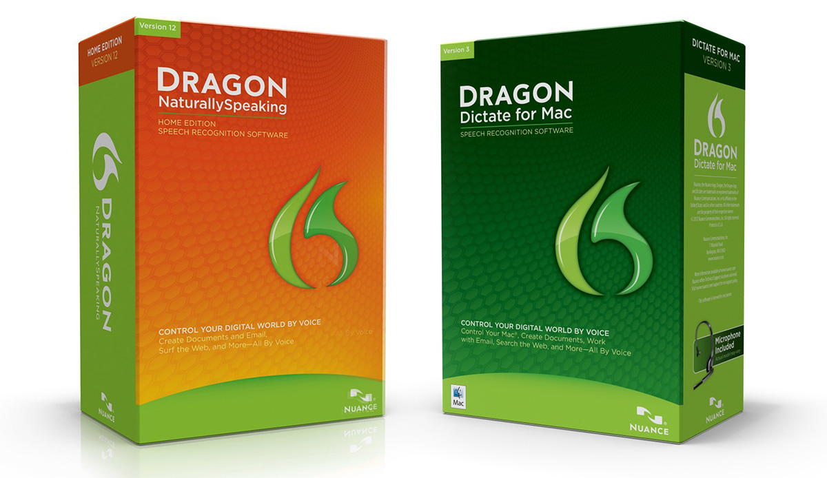 Dragon NaturallySpeaking and Dragon Dictate