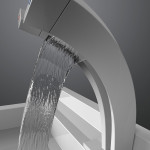 Pavati faucet creates twin waterfalls of hot and cold