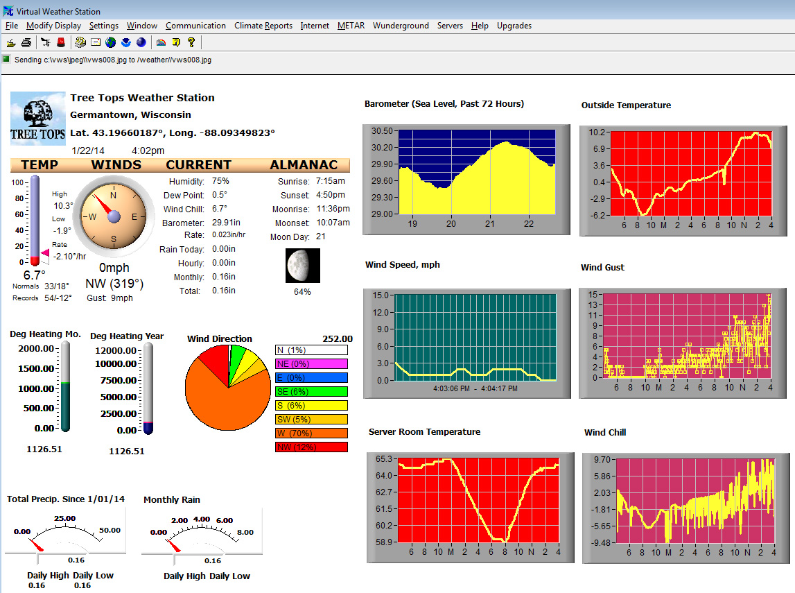 Virtual Weather Station Interface