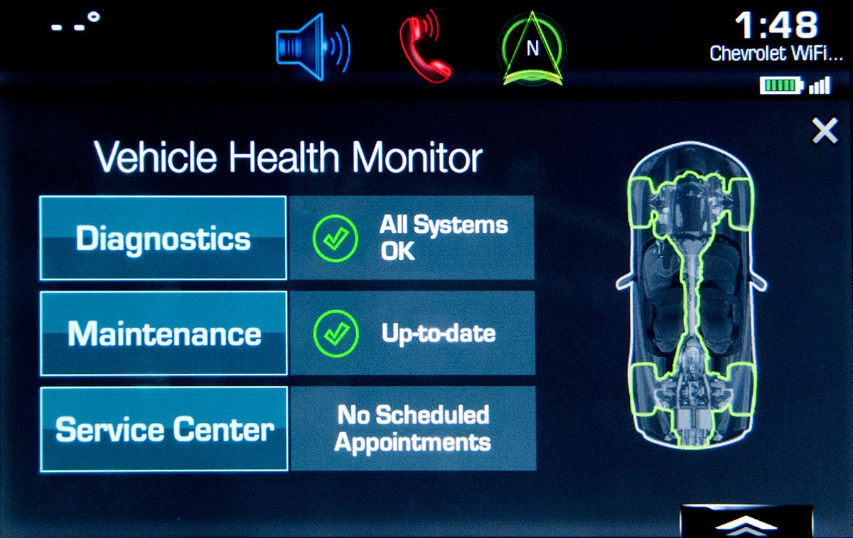 2015 Chevy infotainment screen