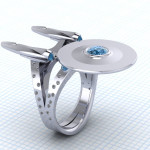 Set your phaser on stunning and give this Star Trek ring to your Valentine