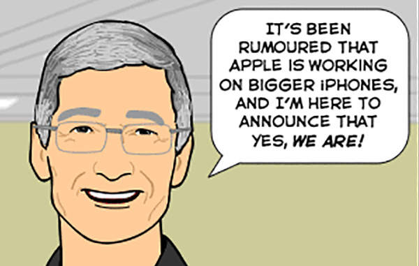 The new iPhone, according to The Joy of Tech